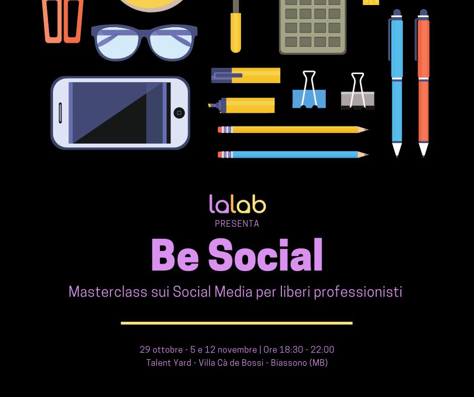 Be Social - masterclass social media per liberi professionisti a Biassono Monza